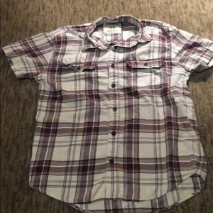 Maroon Aeropostale Short Sleeve Button Down